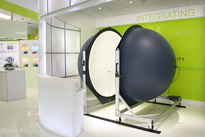 Labsphere, through distributor Pro-Lite Technology, has installed a 2 meter integrating sphere in the Aurora Lighting A.L.E.X. 2.0 LED Light Lab.
