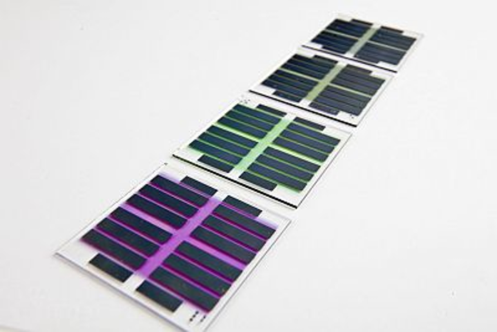 Imec's tandem organic solar cells on glass plates with a power conversion efficiency to 5.15%