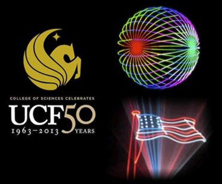 UCF celebrates 50th Anniversary with Pangolin laser light