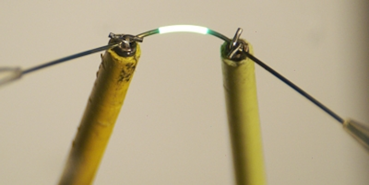 Thread becomes functional OLED emitter