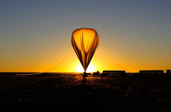 A scientific balloon launched from New Mexico in September 2013 carried an experimental instrument designed to collect and measure the energy of light emitted by the Sun, with the help of NIST chips coated with carbon nanotubes. (Image credit: LASP)