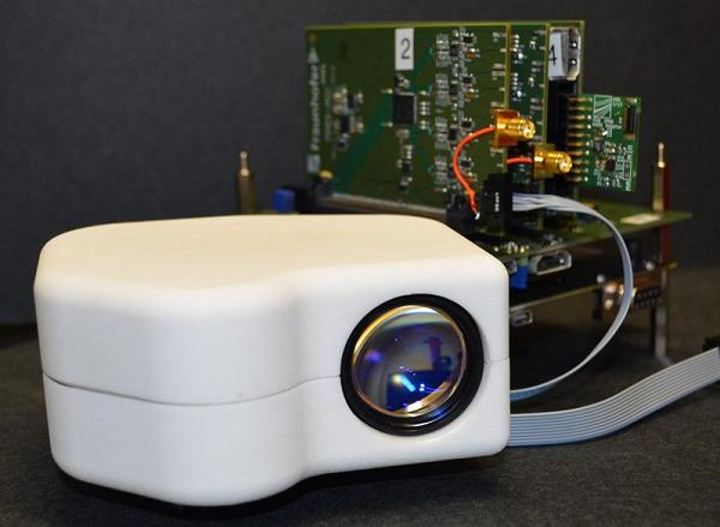 Fraunhofer IPMS has developed a portable biometric retinal eye scanner for civilian and defense and security identification applications. (Image credit: Fraunhofer IPMS)