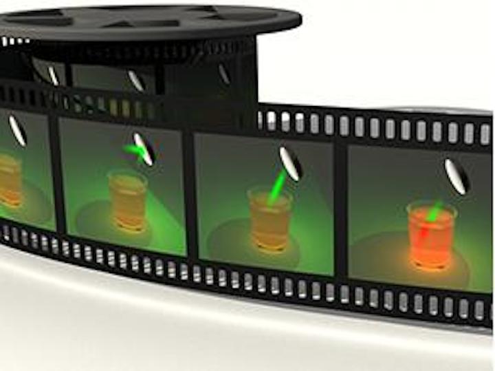 2-D streak camera operates at up to 100 billion frames per second, images propagating light pulses