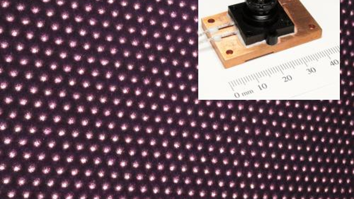 Near-IR structured-light spot projector for machine vision is VCSEL-based
