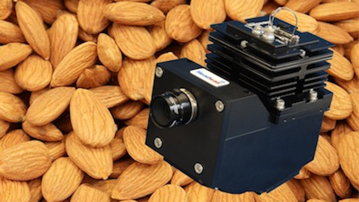 Hyperspectral imaging sensors inspect, sort, and grade nuts and whole-food products