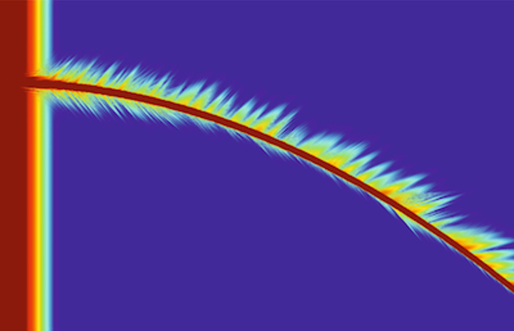 Chip-based hard x-ray waveguides can be strongly curved