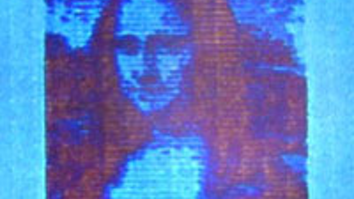 Researchers from DTU Nanotech and DTU Fotonik have succeeded in printing a microscopic Mona Lisa. She is 50 microns long or about 10,000 times smaller than the real Mona Lisa in the Louvre in Paris. (Image credit: DTU)