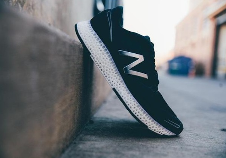 Laser sintering-based 3D printing using soft materials is changing the types of objects that can be fabricated. (Image credit: New Balance)