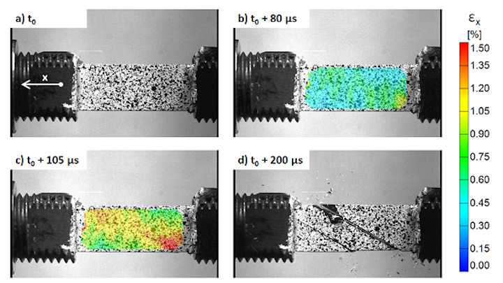 A Kirana ultrahigh-speed camera from Specialised Imaging is being used to study material failure of carbon epoxy composites. (Image credit: Specialised Imaging)