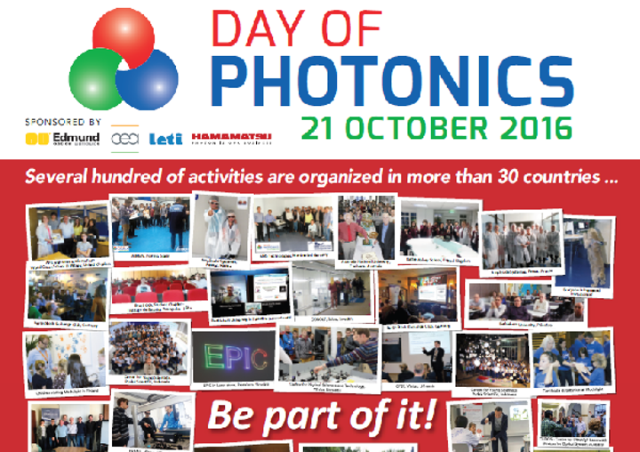 EPIC is managing the 2016 Day of Photonics event to promote 'photonics' to the general public. (Image credit: EPIC)