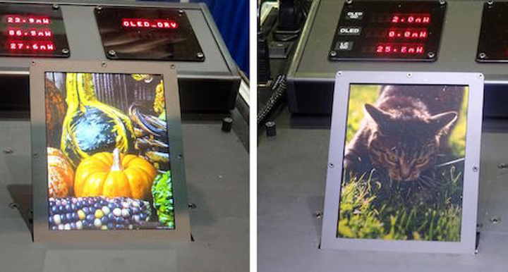 Color OLED/reflective LCD hybrid display can be easily seen in full sunlight