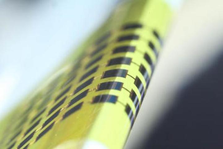 1-μm-thick GaAs photovoltaic cells have a 1.4 mm bending radius