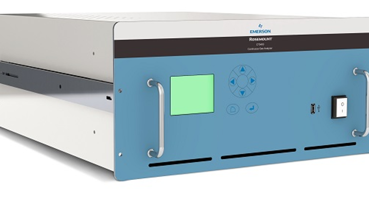 A combined quantum-cascade-laser and tunable-diode-laser instrument--the Rosemount CT5400 Continuous Gas Analyzer--can analyze 12 gases simultaneously for a variety of sensing and process analytics applications. (Image credit: Emerson)