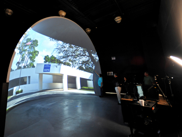 Jenoptik Dome Theater showcases laser cinema projection lenses