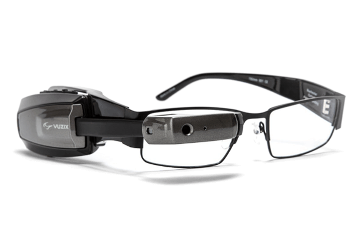 Vuzix M100 smart glasses are being paired with visual aid software from CyberTimez that magnifies text up to 15 times, improving vision for the low-vision and nearly blind community. (Image credit: Vuzix)