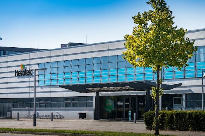 Heliatek headquarters is shown with active HeliaFilm facade. (Image credit: Heliatek)