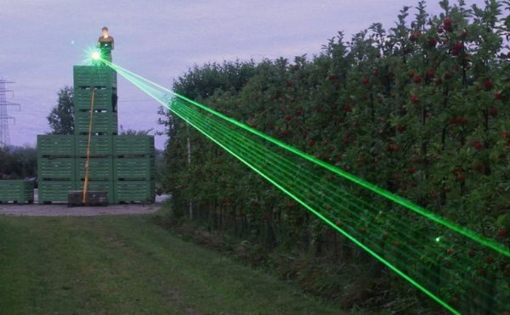 The European Commission is funding a trial to see if a laser can scare rats and other rodents from crops in order to eliminate harmful poisons. (Image credit: BBC)