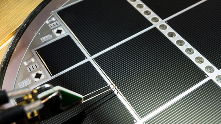 A wafer-bonded III-V and silicon multi-junction solar cell with 30.2% efficiency beats theoretical limits. (Image credit: Fraunhofer ISE/A. Wekkeli)
