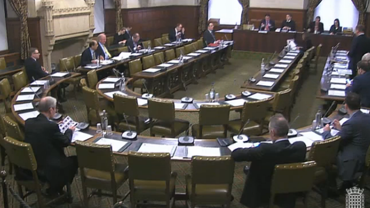 A still frame from the video of the Westminster Hall debate on photonics is shown, whereby the UK has established the All Party Parliamentary Group for Photonics. (Image credit: UK Photonics Leadership Group).