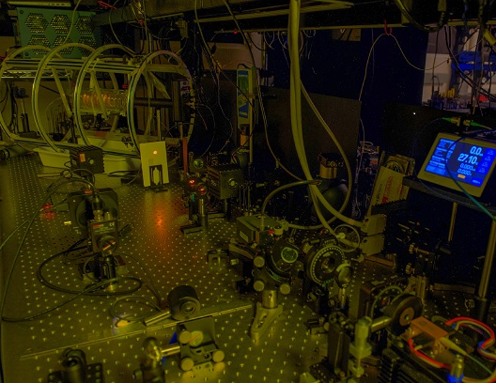 With NASA technology development funding, a Goddard team of scientists and engineers will advance a sodium lidar instrument for use in space. This image shows the laboratory breadboard. (Image credit: NASA/W. Hrybyk)