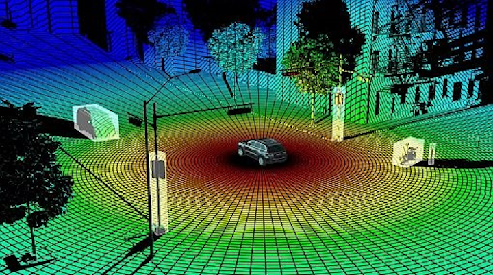 Osram is investing in LeddarTech and its solid-state lidar technology, which uses IR light to sense distances and location of objects for autonomous driving applications. (Image credit: LeddarTech)