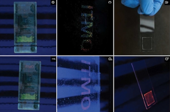Inkjet-printed nanoparticle ink can produce security holograms on an industrial scale