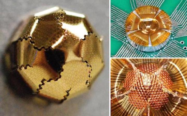 Bowl-shaped silicon image sensor could enable hemispherical imaging