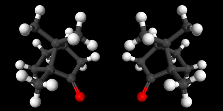 Chiral molecules are essentially mirror-images of each other, with identical shape. (Image credit: Wikimedia Commons)