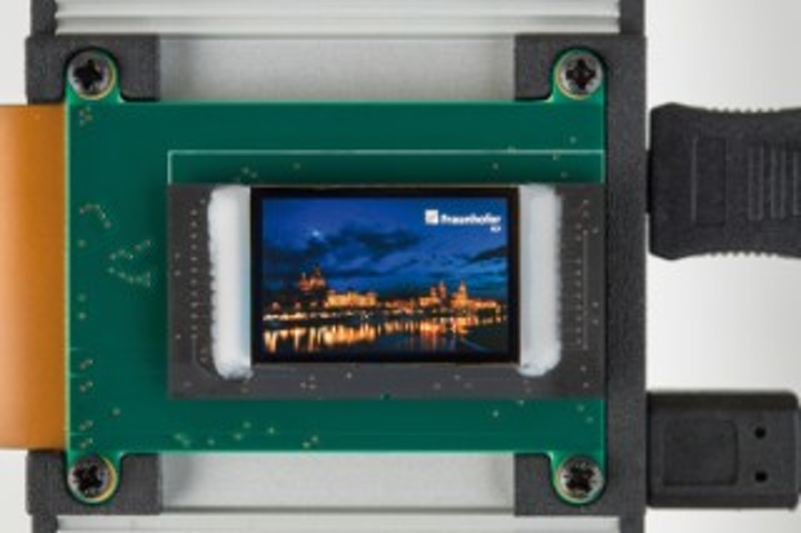 New-generation OLED microdisplays feature extended full-HD resolution. (Image credit: Fraunhofer FEP)