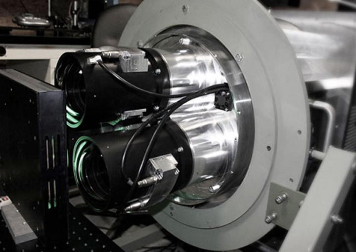 Ultralarge-format lenses are shown mounted in the B66 Aerial Surveillance camera. (Image credit: Resolve Optics)