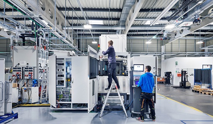 The new manufacturing site in Maisach, Germany will expand 3D printing system capacity. (Image credit: EOS)
