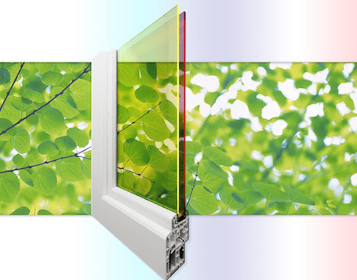 Tandem quantum-dot luminescent solar concentrators power double-pane solar windows