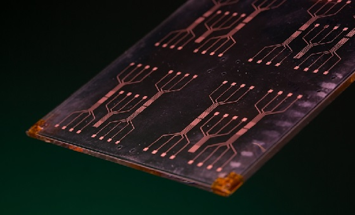Researchers are developing a new material that could improve processing speed of sensors and other electronic components. (Image credit: University Relations/University of Arkansas)