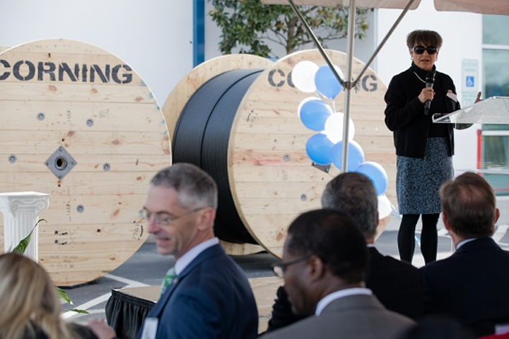 Corning opened a new fiber-optic manufacturing facility in Newton, NC that will employ 200 people. (Image credit: Corning Incorporated)
