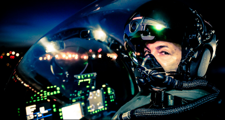 Artemis Optical manufactures helmet-mounted and heads-up displays, shown here, as well as optical coatings and filters that facilitate these display platforms. (Image credit: Artemis Optical)