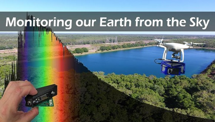 Among many other applications that benefit the goals of Earth Day including plastic recycling, spectrometers can monitor important environmental parameters both on the ground and from small unmanned aerial vehicles (UAVs) in the sky. (Image credit: StellarNet)