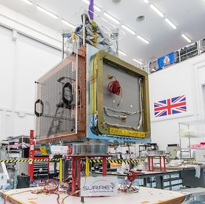 Shown is an Earth Observation Satellite being built. (Image credit: SSTL)