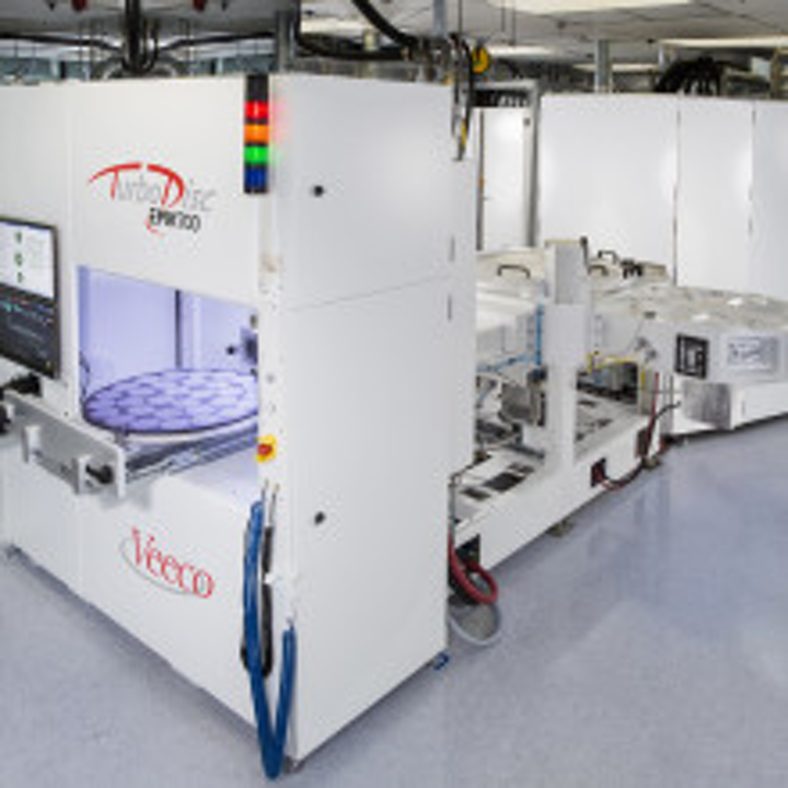 The collaboration fabricates ALLOS 200 mm GaN-on-Si epiwafer technology products on Veeco Propel MOCVD systems. (Image credit: Veeco)