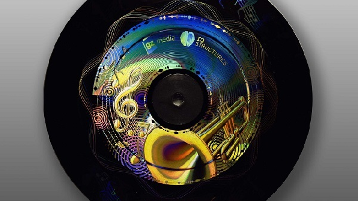 IQ Structures has won several awards for its optical holograms, like this one created for a gramophone record. (Image credit: IQ Structures)