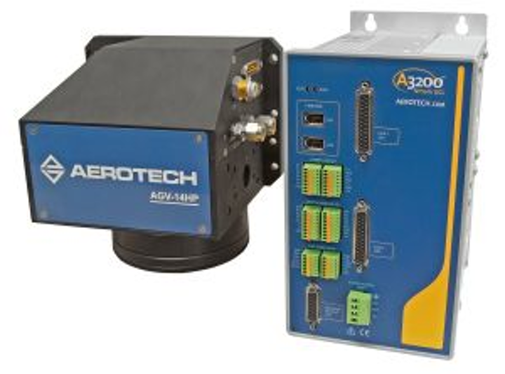 Galvo scanner controller from Aerotech uses advanced interpolation