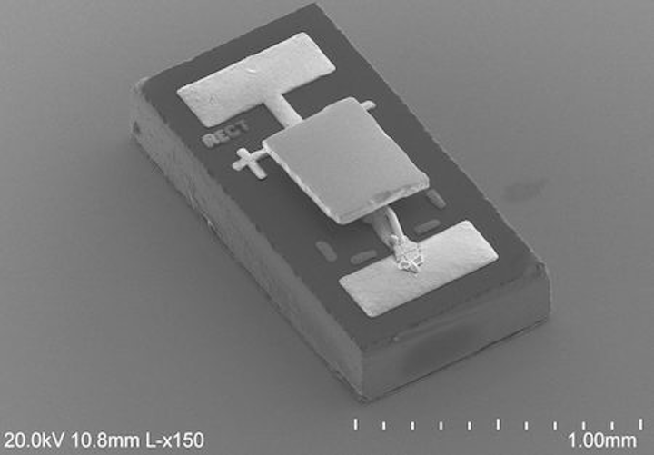 With leads reversed, experimental IR LED can cool things, no coherent radiation required