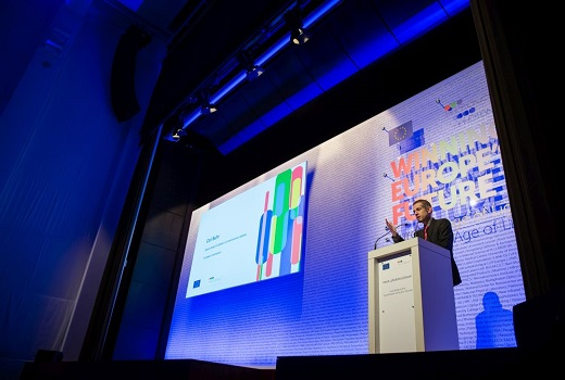 Shown is a presentation from last year's Photonics PPP annual meeting. For 2019, the meeting will take place in Brussels, Belgium and highlight the role of photonics in today's technology megatrends. (Image credit: Photonics21)
