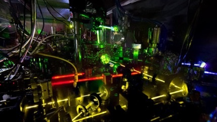 Researchers have measured the ticking of this ytterbium optical clock with record-breaking accuracy. The new work is a step toward redefining the length of a second based on time kept by an optical clock. (Image credit: Nate Phillips/NIST)