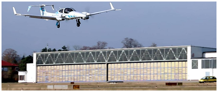TUM's research aircraft lands fully automatically without ground-based systems.