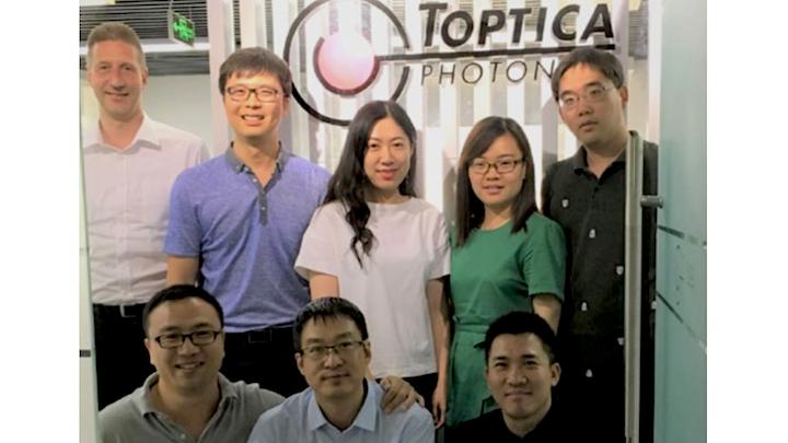 A portion of the staff of Toptica Photonics China.