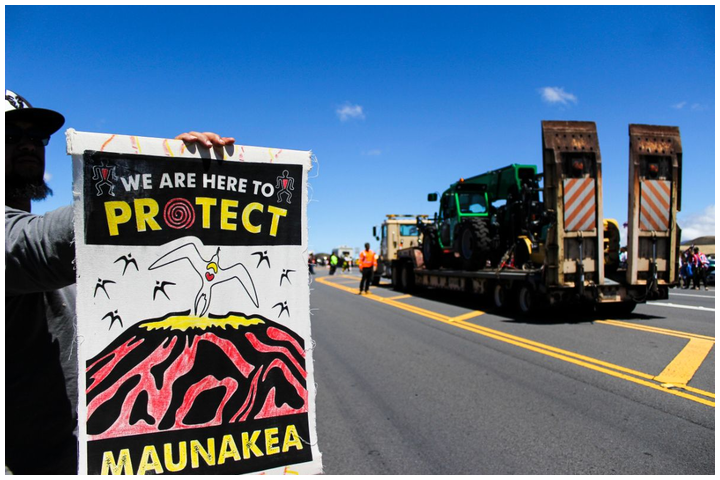 The Thirty Meter Telescope (TMT), scheduled to be constructed on the Mauna Kea telescope complex, has been continually protested by native Hawaiians. Construction has been postponed until late 2021 as new sites are explored.