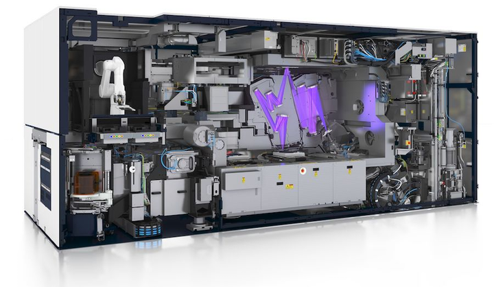 It has the size of a locomotive and will be a workhorse in fabs worldwide: The EUV stepper TWINSCAN NXE:3400B.